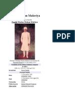 Madan Mohan Malaviya-Biography