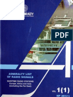 Admirality List of Radio Signals (Vol 1)