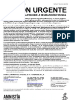 Se pide una ley para prohibir la desaparición forzada (AU 11-12 MÉXICO)
