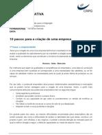 10 Passos Empreendedorismo