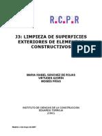 Sánchez de Rojas, M.I. et al. Limpieza superficies exteriores. 2007