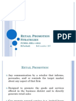 Retail Promotion Strategies