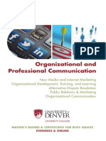 Organizational and Professional Communication