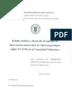 López, E. Intervención conservativa vidrio arq. 1999