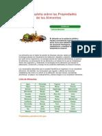 Guía Completa sobre las Propiedades de los Alimentos