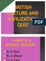 British Culture and Civilization Quiz