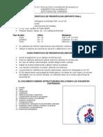 Caracteristicas de Presentacion Del Empastado Reporte Final