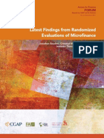 Latest Findings from Randomized Evaluations of Microfinance