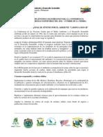 Declaratoria de los Jóvenes Colombianos Camino a Río+20