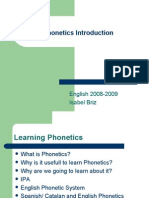 Phonetics Introduction