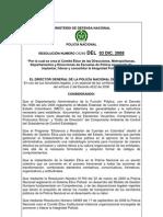 5. Res. 05289 - 03 de Dic. 2008 - Comite Etico Direcciones - Metro y Depart.