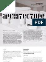Architecture Programme