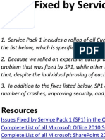 Copy of Microsoft Share Point 2010 and Office Servers Service Pack 1 Changes