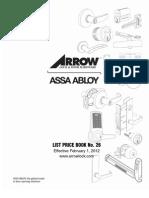 Arrow Price Book 2012