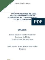 CULTIVO DE PECES DE AGUA DULCE Y CONSTRUCCIÓN DE ACUARIOS EN EL COLEGIO FISCAL TECNICO