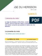 page 5 du hérisson