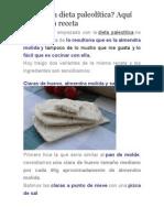 Pan en la dieta paleolítica