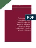 Tomo I.- Protocolo teórico metodológico para la verificación del grado de tutela de derechos de las mujeres en el orden jurídico mexicano