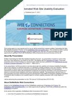 001 - Usability Geek - Presentation on Automated Website Usability Evaluation