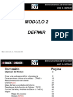 Microsoft Power Point - LSS GB Mod 2 - Define v1.0 Espanol