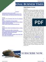 IBT Markets Outlook 20 January 2012
