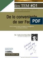De lo Conveniente de Ser Feo | Carlos de la Rosa Vidal