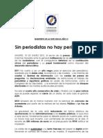 Sin Periodistas no hay Periodismo . 10 enero 2012 . FAPE #sinperiodistasnohayperiodismo