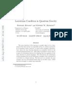 Raphael Bousso and Stephen W. Hawking- Lorentzian Condition in Quantum Gravity