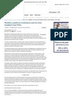 17-01-12 Medidas y políticas económicas ante la crisis mundial_ Cano Vélez