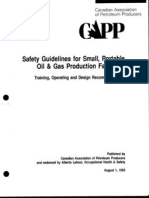 CAPP Safety Guidelines for Small Oil & Gas Facilities