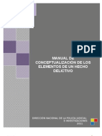 MANUAL DE CONCEPTUALIZACIÓN DE LOS ELEMENTOS DE UN HECHO DELICTIVO