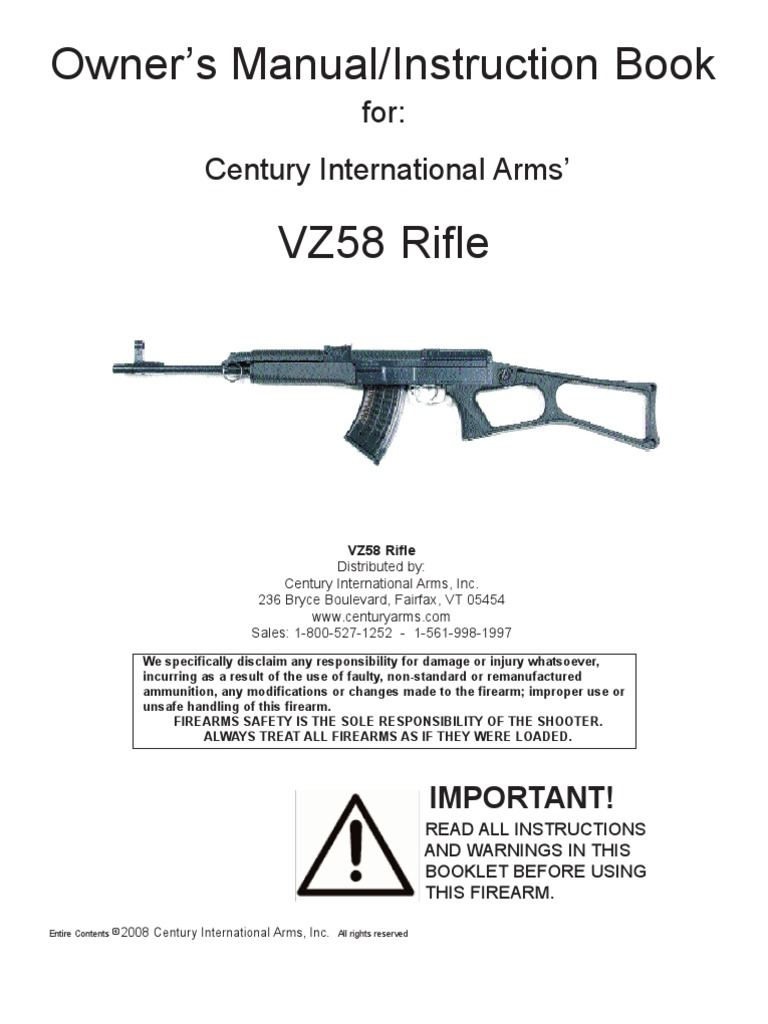 Century vz 2008 rifle manual 2 cartridge firearms magazine century vz 2008 rifle manual 2 cartridge firearms magazine firearms pooptronica Images