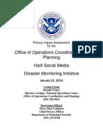 Haiti Social Media Disaster Monitoring Initiative