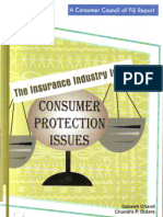 Fiji Consumer Council - The Insurance Industry in Fiji ^ Consumer Protection Issues - Ganesh Chand and Chandra Dulare - 2008