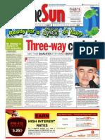 TheSun 2008-11-10 Page01 Three-Way Contest