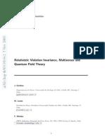 J. Gamboa, M. Loewe and F. Mendez- Relativistic Violation Invariance, Multiverses and Quantum Field Theory
