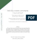 V. Faraoni and W. Israel- Dark energy, wormholes, and the Big Rip