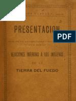 Presentación hechas por D. Alejandro Cameron y otros en el juicio que se sigue por vejaciones inferidas a los indígenas de la Tierra del Fuego. (1897)             mch