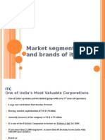 Market Segmentation and Brands of Itc