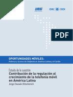 contribucion de la regulación al crecimiento de la telefonía móvil