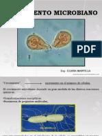 división y crecimiento microbiano BIOLOGIA