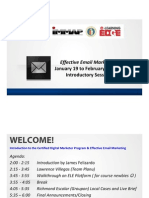 Effective Email Marketing_Jan 19 to Feb 2 2012 Course Orientation PDF