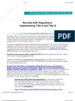 Revised ADA Regulations Implementing Title II and Title III