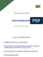Revue annuelle 2010 DS B. N'Konni- Canevas pr+®sentation R+®gion -