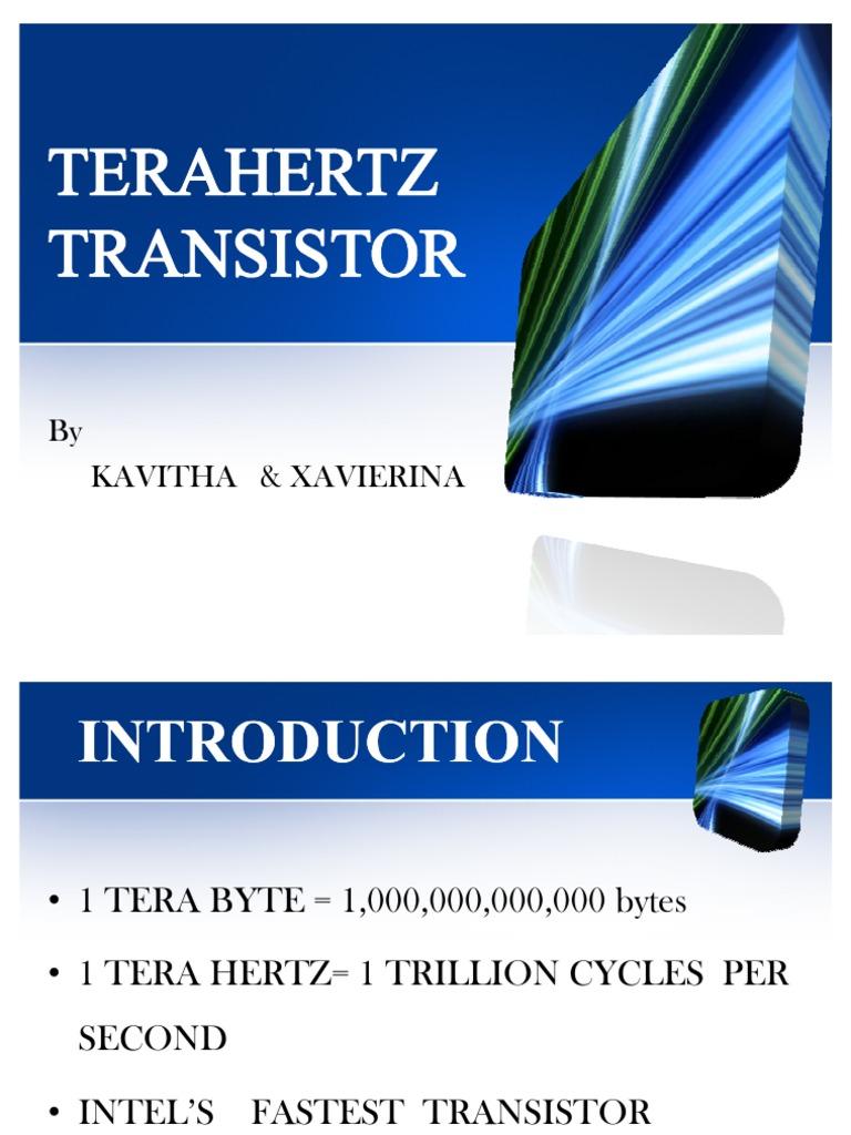 Terahertz Transistor Transistors