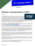 year 4 newsletter