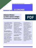 Antoine Ntsimi Le futur espace intégré d'économie émergente