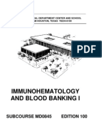 US Army Medical Course MD0845-100 - Immunohematology and Blood Banking I