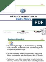 Product Presentation Motors Part I