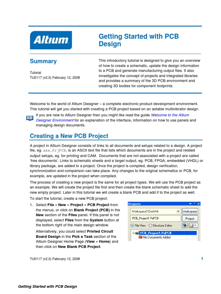 Altium Tu0117 Getting Started With Pcb Design Printed Circuit Board Designer Keyboard Shortcut